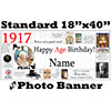 1917 CUSTOM PHOTO BANNER PARTY SUPPLIES