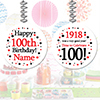 1918 100TH BIRTHDAY CUSTOMIZED DANGLER PARTY SUPPLIES