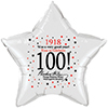 1918 - 100TH BIRTHDAY STAR BALLOON PARTY SUPPLIES