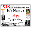 1918 CUSTOMIZED DOOR POSTER PARTY SUPPLIES