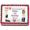 1918 PERSONALIZED EDIBLE CAKE IMAGE PARTY SUPPLIES