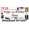 1918 PERSONALIZED BANNER PARTY SUPPLIES
