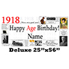1918 DELUXE PERSONALIZED BANNER PARTY SUPPLIES