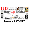 1918 JUMBO PERSONALIZED BANNER PARTY SUPPLIES