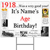 1918 PERSONALIZED YARD SIGN PARTY SUPPLIES