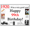1920 - 99TH BIRTHDAY PLACEMAT PARTY SUPPLIES
