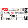1920 PERSONALIZED BANNER PARTY SUPPLIES