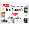 1920 CUSTOMIZED DOOR POSTER PARTY SUPPLIES
