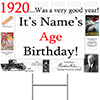 1920 PERSONALIZED YARD SIGN PARTY SUPPLIES