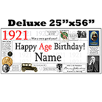 1921 DELUXE PERSONALIZED BANNER PARTY SUPPLIES
