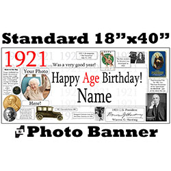 1921 CUSTOM PHOTO BANNER PARTY SUPPLIES