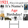1921 PERSONALIZED YARD SIGN PARTY SUPPLIES