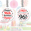 1923 - 96TH BIRTHDAY CUSTOM DANGLER PARTY SUPPLIES