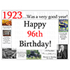 1923 - 96TH BIRTHDAY PLACEMAT PARTY SUPPLIES