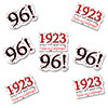 1923 - 96TH BIRTHDAY STICKER SEAL PARTY SUPPLIES
