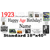 1923 PERSONALIZED BANNER PARTY SUPPLIES