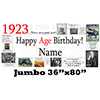 1923 JUMBO PERSONALIZED BANNER PARTY SUPPLIES
