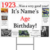 1923 PERSONALIZED YARD SIGN PARTY SUPPLIES