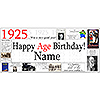 1925 PERSONALIZED BANNER PARTY SUPPLIES