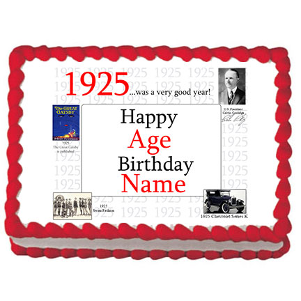 Click for larger picture of 1925 PERSONALIZED ICING ART PARTY SUPPLIES