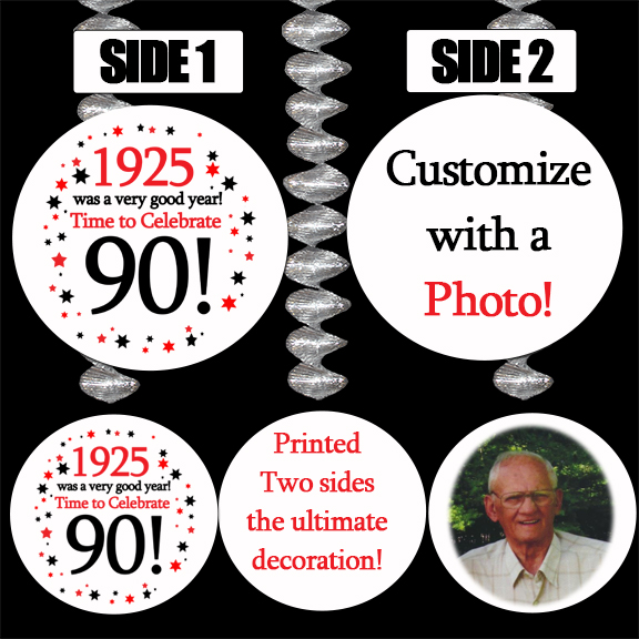 Click for larger picture of 1925 PERSONALIZED PHOTO DANGLER PARTY SUPPLIES
