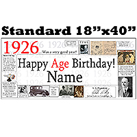 1926 PERSONALIZED BANNER PARTY SUPPLIES