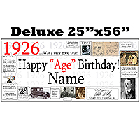 1926 DELUXE PERSONALIZED BANNER PARTY SUPPLIES