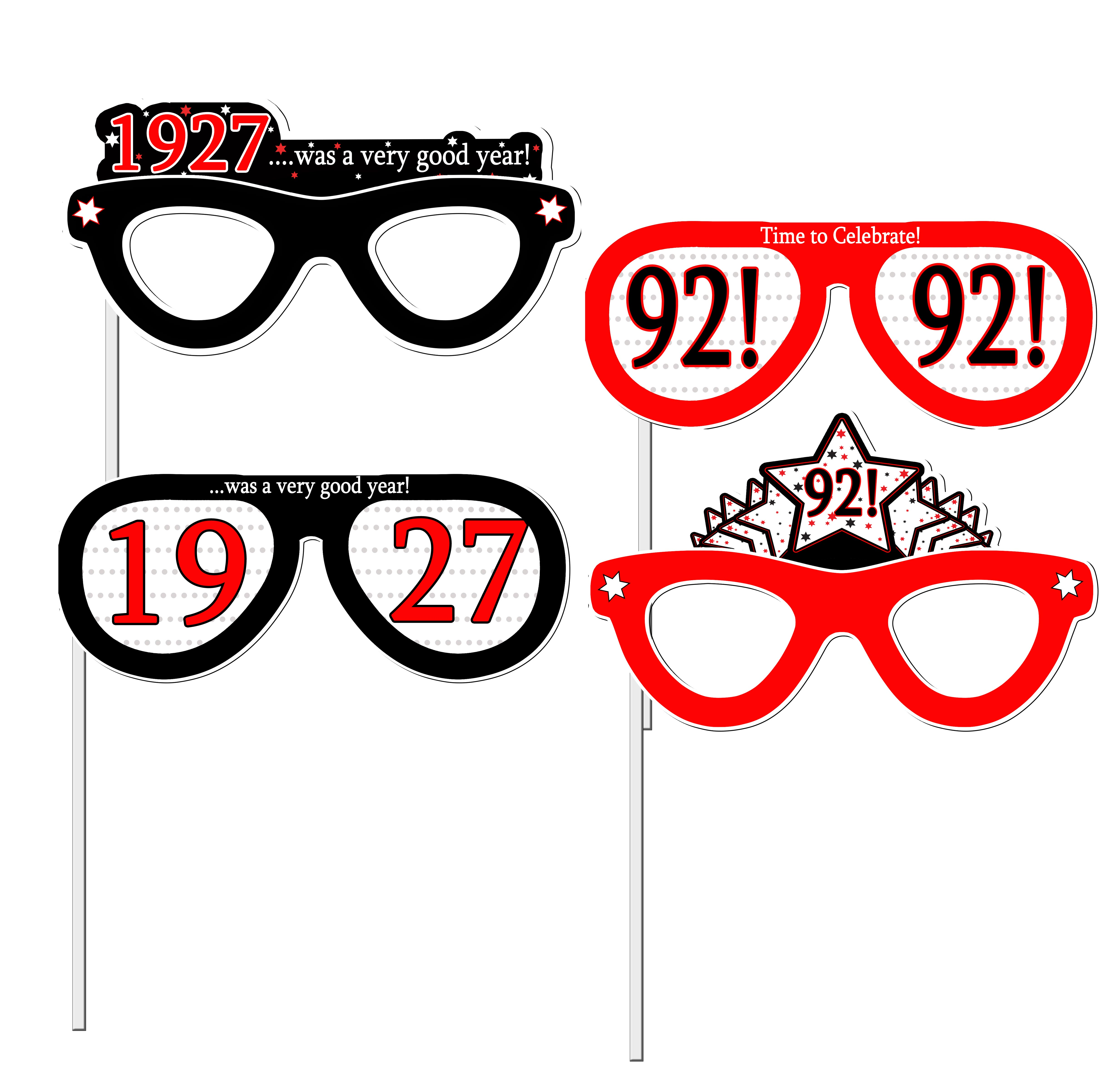 Click for larger picture of 1927 - 92ND BIRTHDAY PHOTO PROPS PARTY SUPPLIES