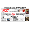 1927 PERSONALIZED BANNER PARTY SUPPLIES