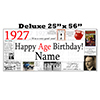 1927 DELUXE PERSONALIZED BANNER PARTY SUPPLIES
