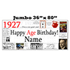 1927 JUMBO PERSONALIZED BANNER PARTY SUPPLIES