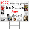 1927 PERSONALIZED YARD SIGN PARTY SUPPLIES