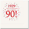 1929 - 90TH BIRTHDAY LUNCHEON NAPKIN PARTY SUPPLIES