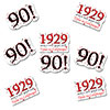 1929 - 90TH BIRTHDAY STICKER SEAL PARTY SUPPLIES
