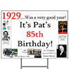 1929 PERSONALIZED YARD SIGN PARTY SUPPLIES
