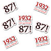 1932 - 87TH BIRTHDAY STICKER SEAL PARTY SUPPLIES