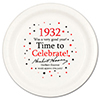1932 - BIRTHDAY DINNER PLATE PARTY SUPPLIES