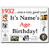 1932 CUSTOMIZED DOOR POSTER PARTY SUPPLIES