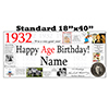 1932 PERSONALIZED BANNER PARTY SUPPLIES