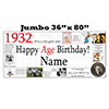 1932 JUMBO PERSONALIZED BANNER PARTY SUPPLIES