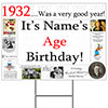 1932 PERSONALIZED YARD SIGN PARTY SUPPLIES