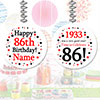 1933 - 86TH BIRTHDAY CUSTOM DANGLER PARTY SUPPLIES