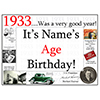 1933 CUSTOMIZED DOOR POSTER PARTY SUPPLIES