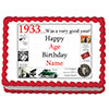 1933 PERSONALIZED EDIBLE CAKE IMAGE PARTY SUPPLIES