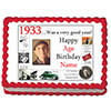 1933 PERSONALIZED EDIBLE PHOTO CAKE IMGE PARTY SUPPLIES