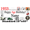 1933 PERSONALIZED BANNER PARTY SUPPLIES