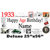 1933 DELUXE PERSONALIZED BANNER PARTY SUPPLIES