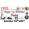 1933 JUMBO PERSONALIZED BANNER PARTY SUPPLIES