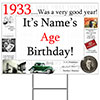 1933 PERSONALIZED YARD SIGN PARTY SUPPLIES