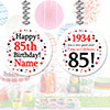 1934 - 85TH BIRTHDAY CUSTOM DANGLER PARTY SUPPLIES